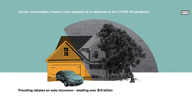 Providing rebates on auto insurance image
